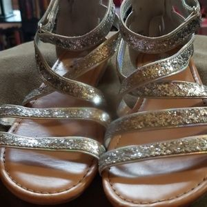 Disney Girls silver Sandals size 3